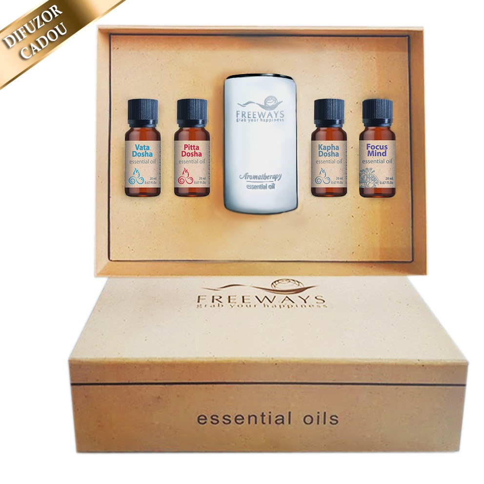 Set Essential Oils 2 (4 x 20 ml) + difuzor CADOU