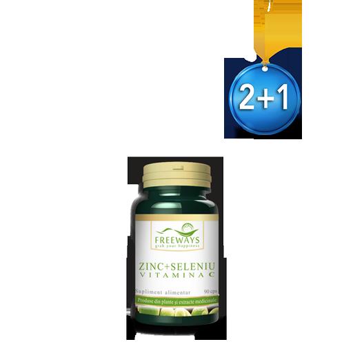 Zinc + Selenium + Vitamin C (90 cps) 2+1