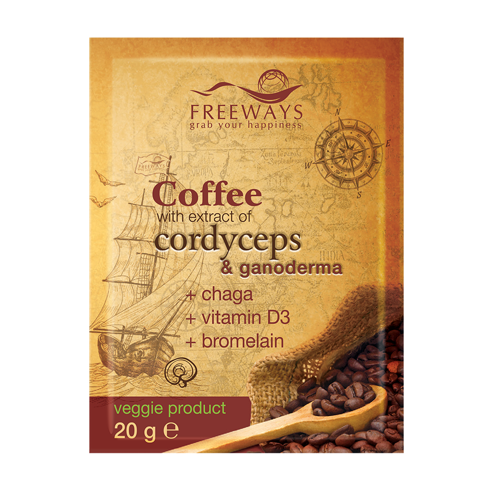 Therapeutic Coffee with Cordyceps and Ganoderma extract + (1 sachet)