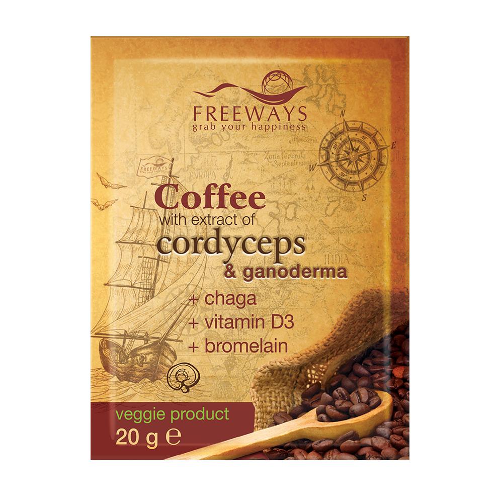 Cafea terapeutica cu Cordyceps si Ganoderma + (1 plic)