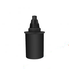 Spare filter for water purification pitcher - black