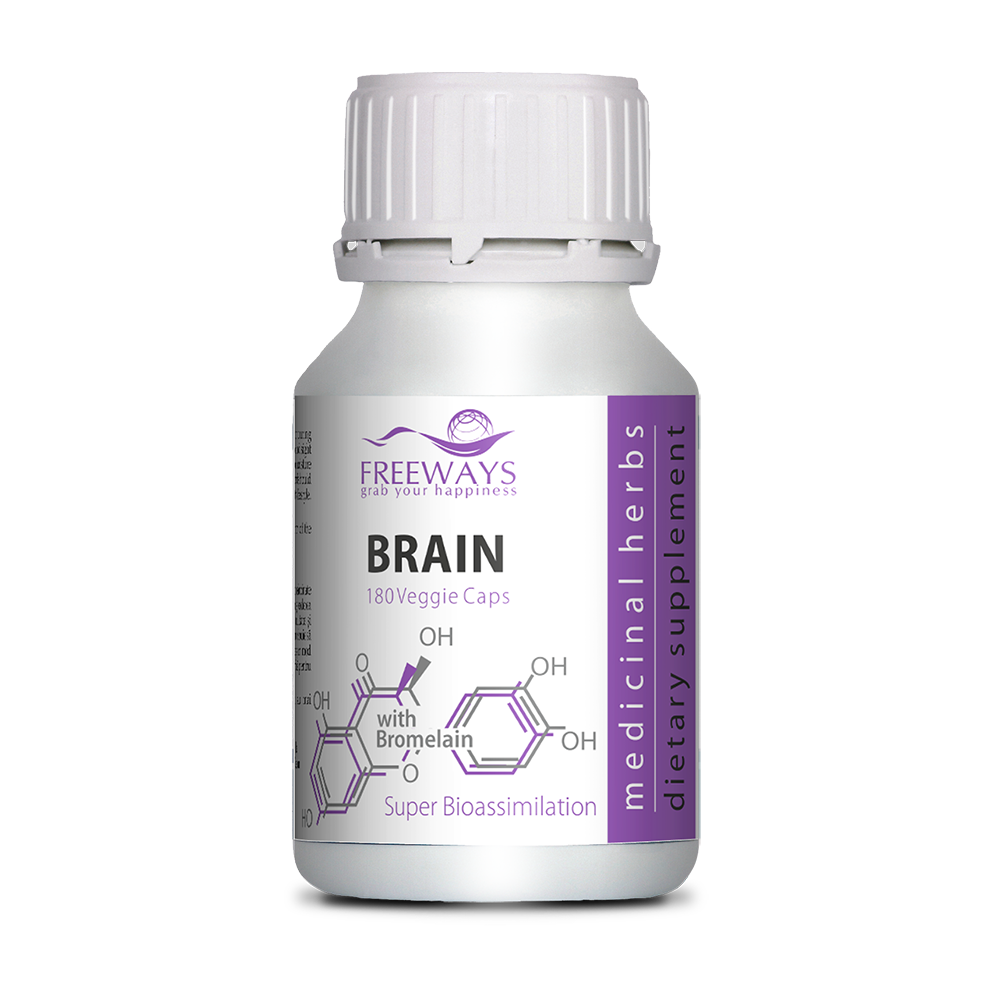 BRAIN with Bromelain (180 veg cps)