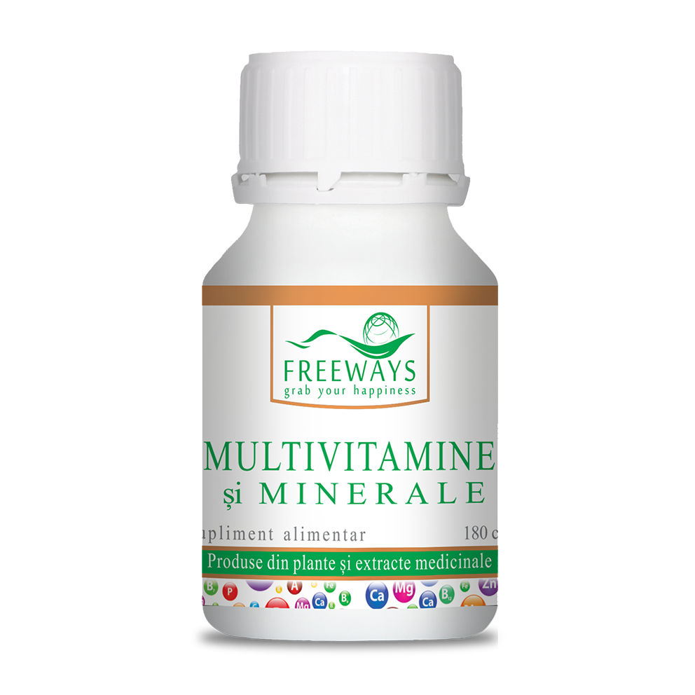 Multivitamins and minerals (180 cps)