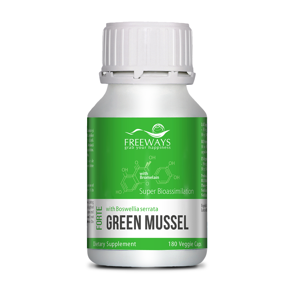 GREEN MUSSEL with Bromelain (180 cps)