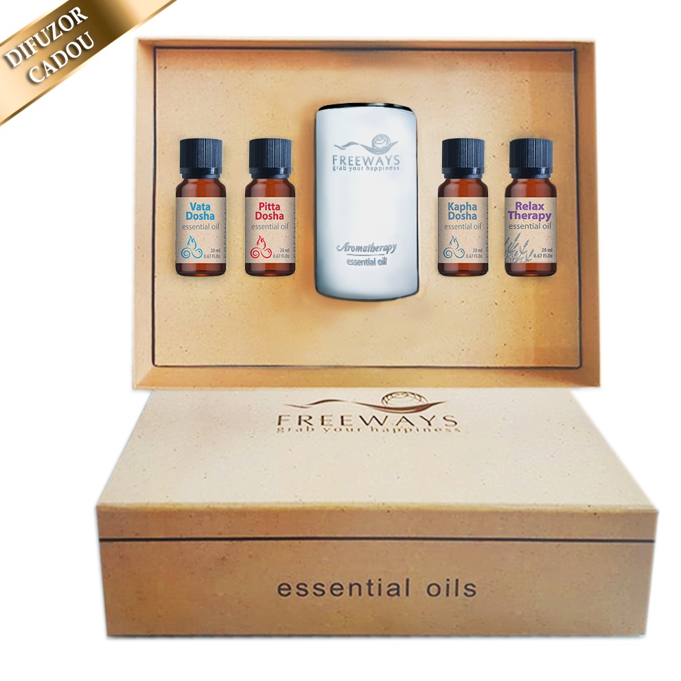 Set Essential Oils 1 (4 x 20 ml) + difuzor CADOU