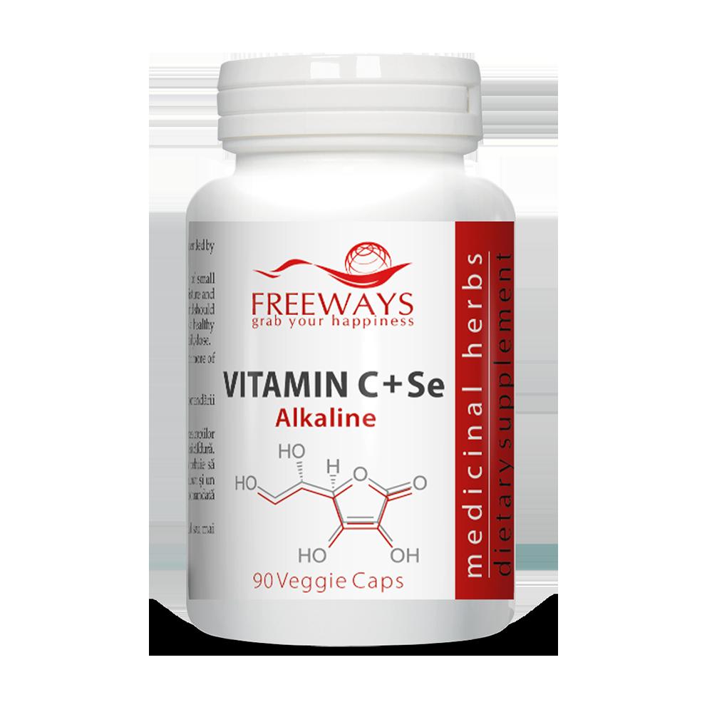 Vitamin C Alkaline + Se (90 cps)
